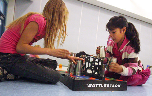 Student stacking: Piling up the fun