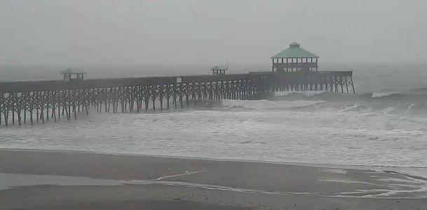 Rain should slack off later today in Charleston