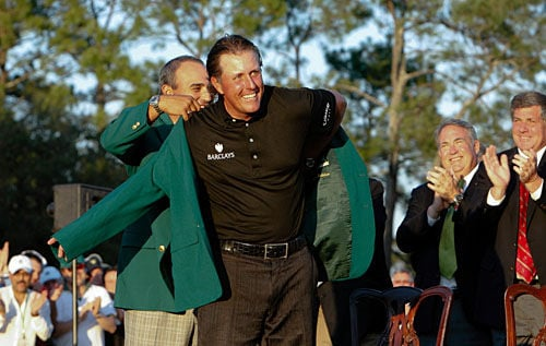 Lefty wins his third Masters