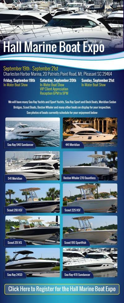 Show Boats: Daniel Island dealer Hall Marine Charleston to display on