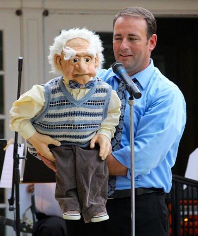 Michael Minor with Grandpa