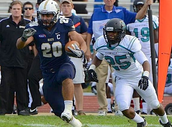 Charleston Southern running back Christian Reyes recognized for achievements, leadership off field