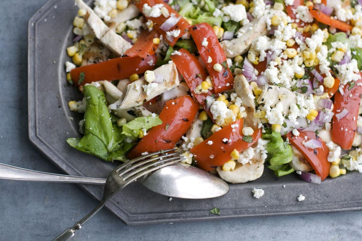 Greek chicken salad offers fresh tastes