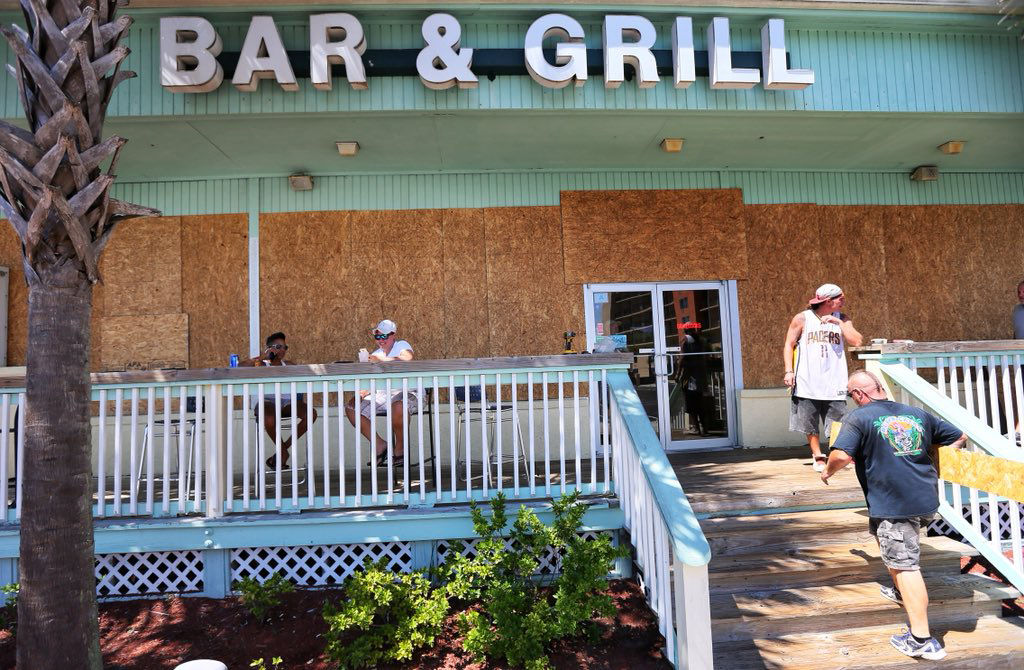 Surfside Beach bar and grill boarded up | Post and Courier