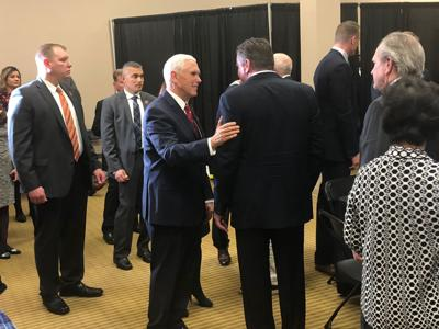 Pence in Columbia