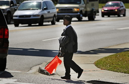 Sign aims to protect pedestrians