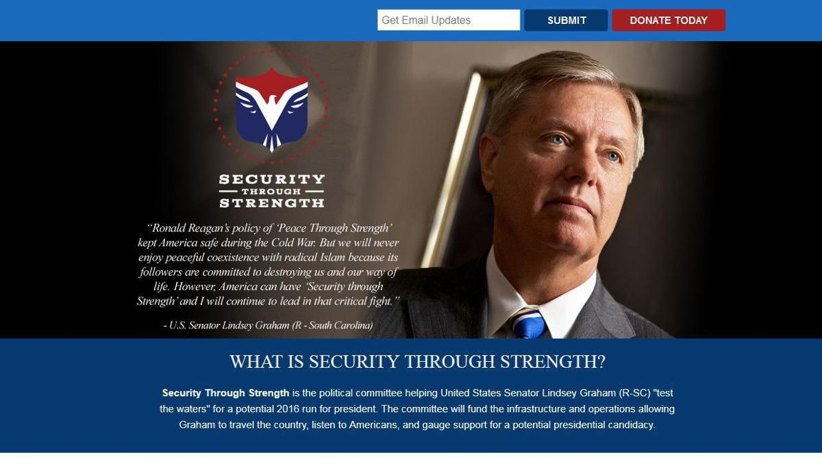 Lindsey Graham launches website testing waters for White House bid