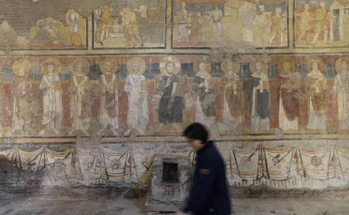 Rare look given of ancient frescoes