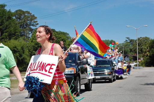 Gay pride on parade