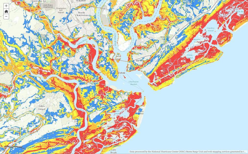 online map shows storm surge risk