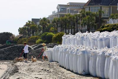 Bagging the beach