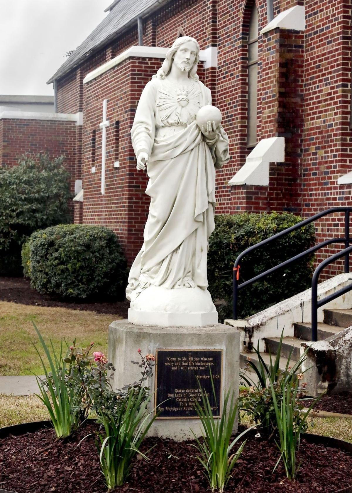Statue of Jesus replaced by Catholic church thanks to help from Citadel cadets replacing statue of Jesus