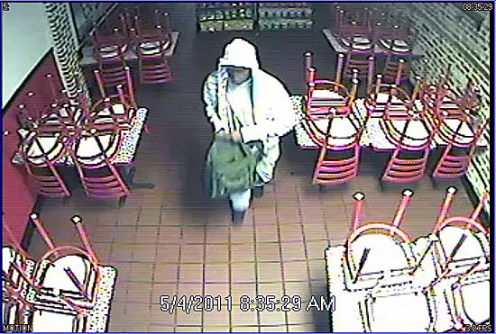 Downtown restaurant robbed this morning
