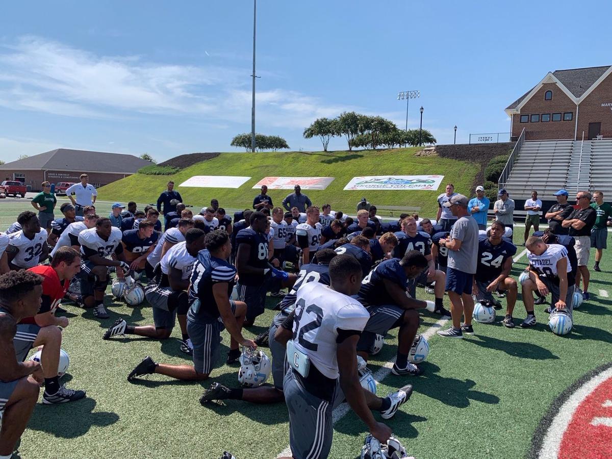 Citadel practice at North Greenville