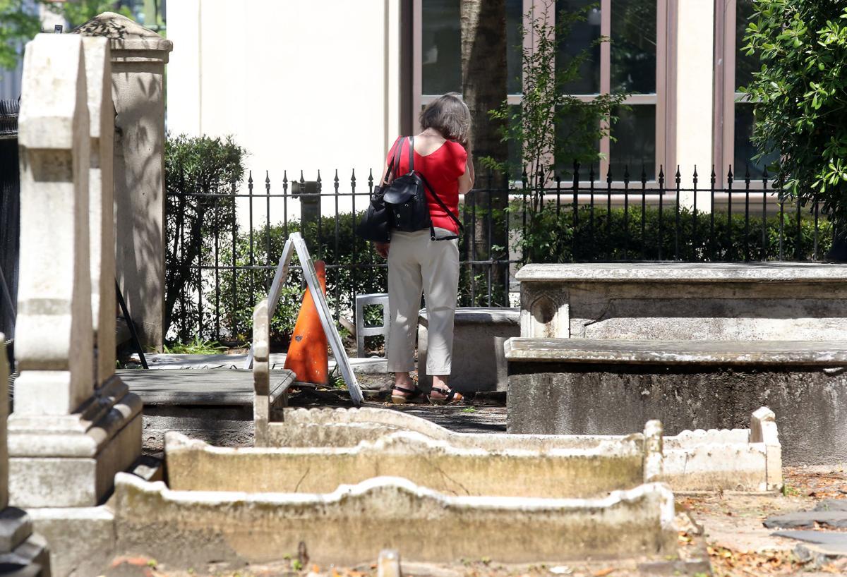 Margaret Seidler at Torrans' grave