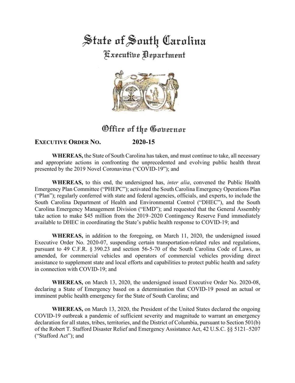 March 28 executive order