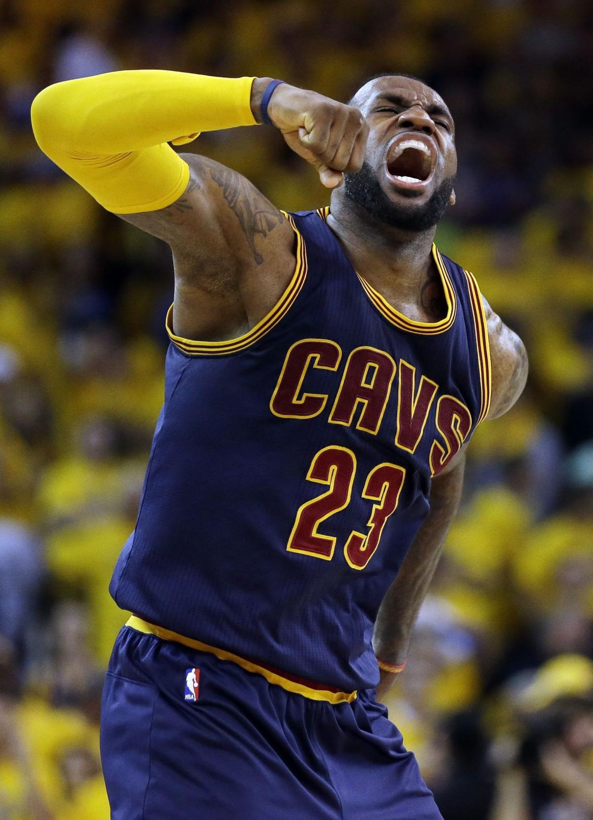 James lifts Cavs in OT to tie series
