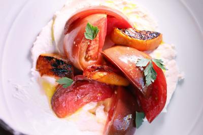 Heirloom tomato salad at The Establishment