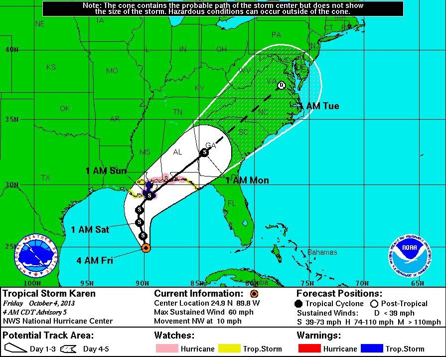 Karen threatens US during quiet hurricane season
