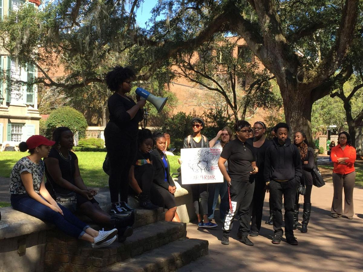 College of Charleston students protest defunding of program for minority students