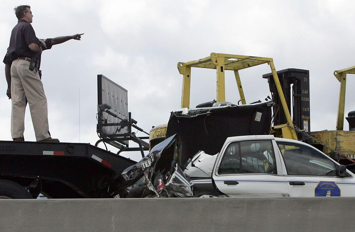 Runaway truck snarls Ravenel Bridge