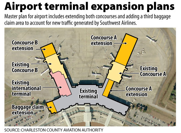 Charleston airport proposes face-lift