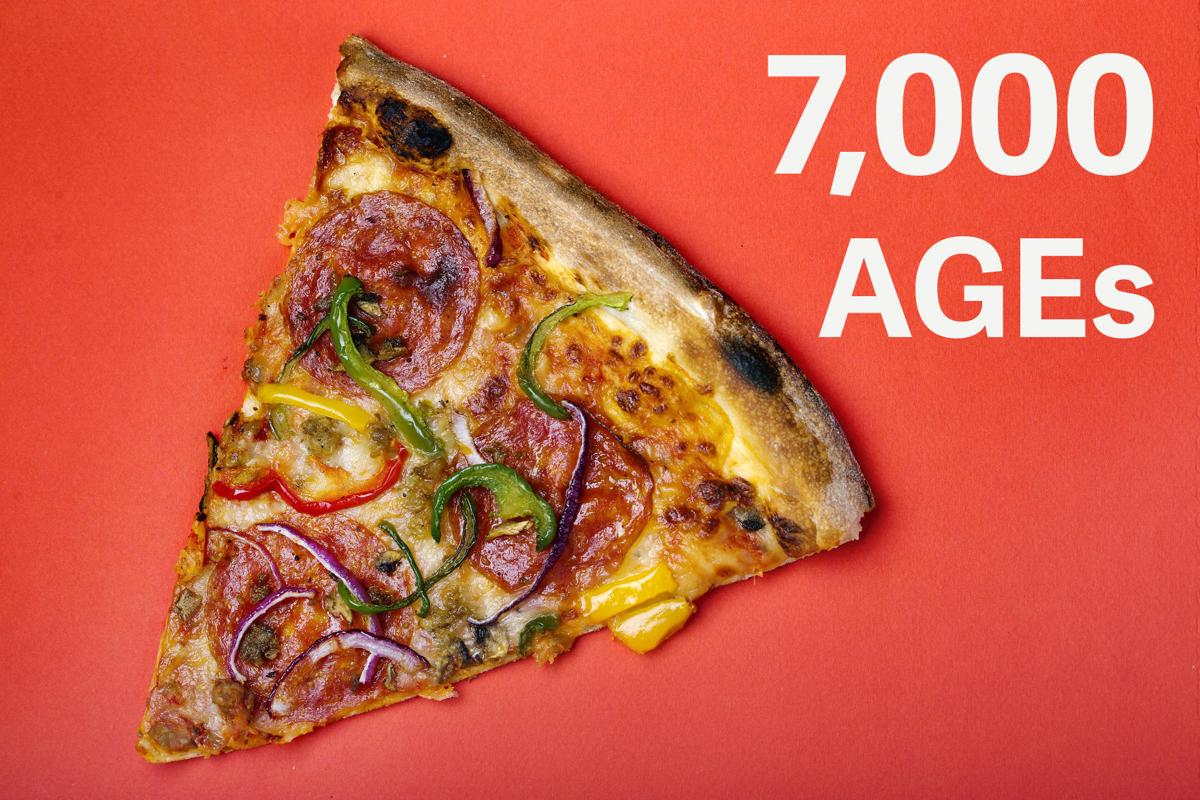 Pizza: 7,000 AGEs