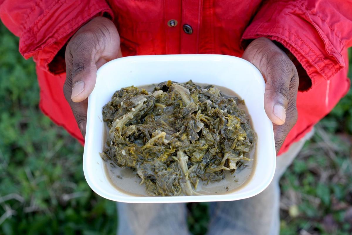 Fresh Take recipe: Greens Braised in Coconut MilkMustard greens
