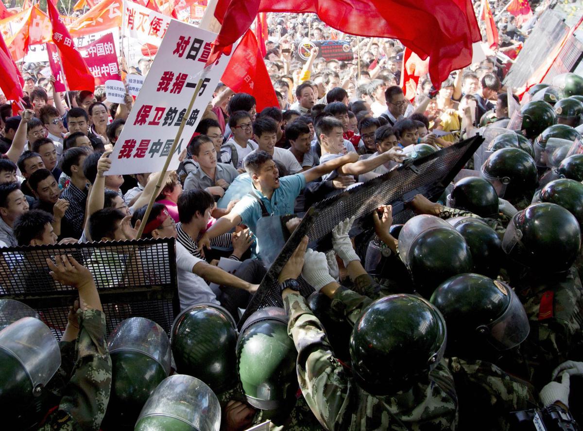 Anti-Japanese protests sweep China