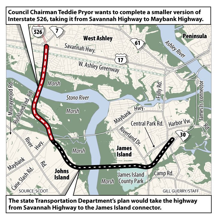 County wants I-526 vote changed