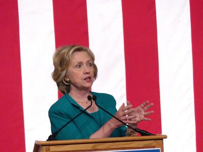 Hillary moves left of Bernie on big business