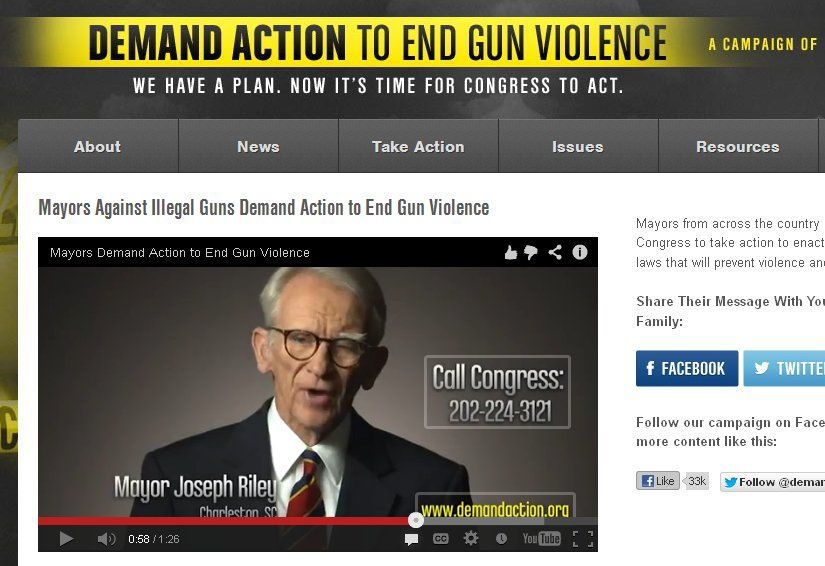 Mayor Riley in new gun legislation ad