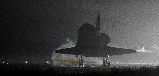 Next-to-last space shuttle flight lands on Earth