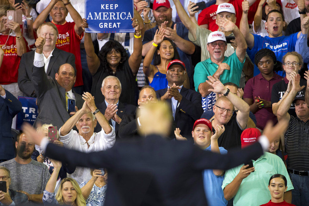 Image result for photos of president trump at campaign rallies