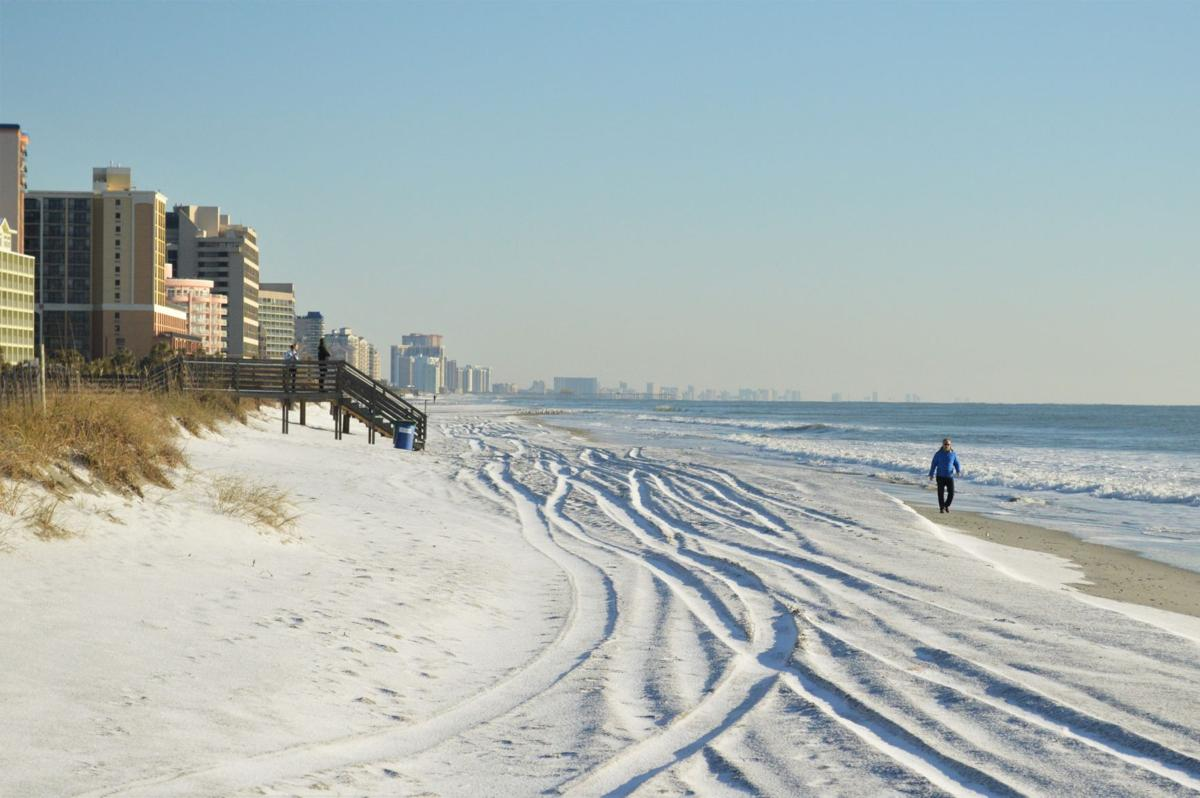 Myrtle Beach Misses Much Of The Snow But Travel On Grand Strand Remains Dangerous