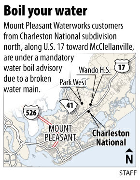 Mount Pleasant boil water advisory issued