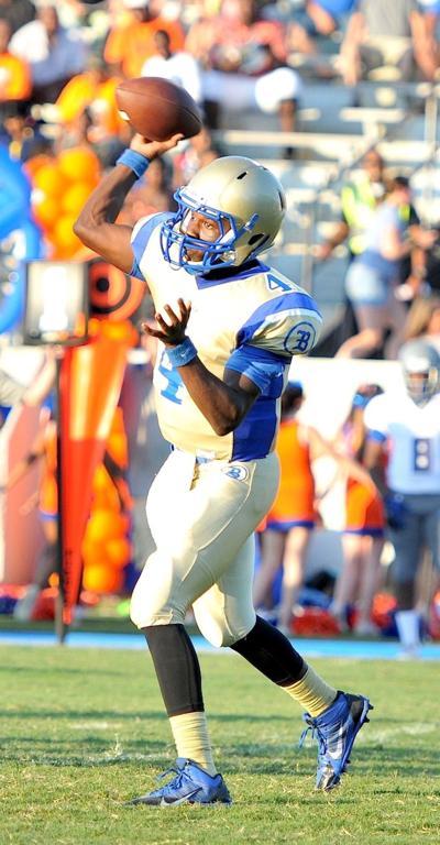 Berkeley quarterback Darius Douglas