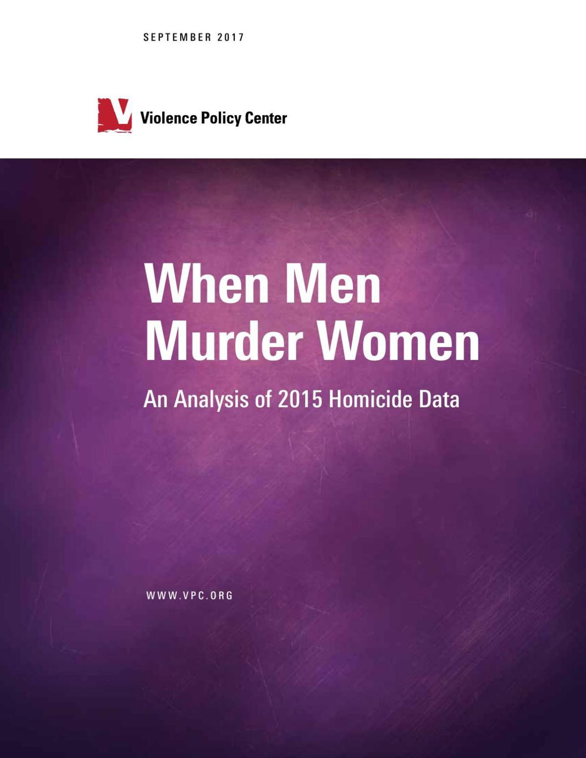 Violence Policy Center women killed by men