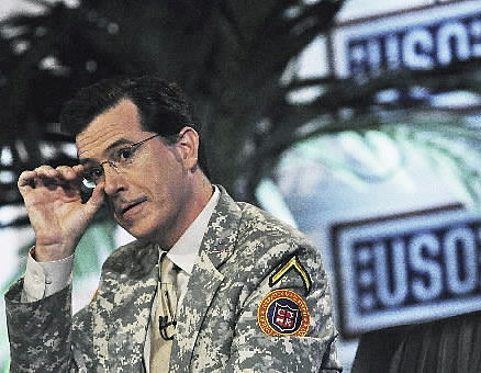 Colbert to salute troops on 2 'Report' episodes