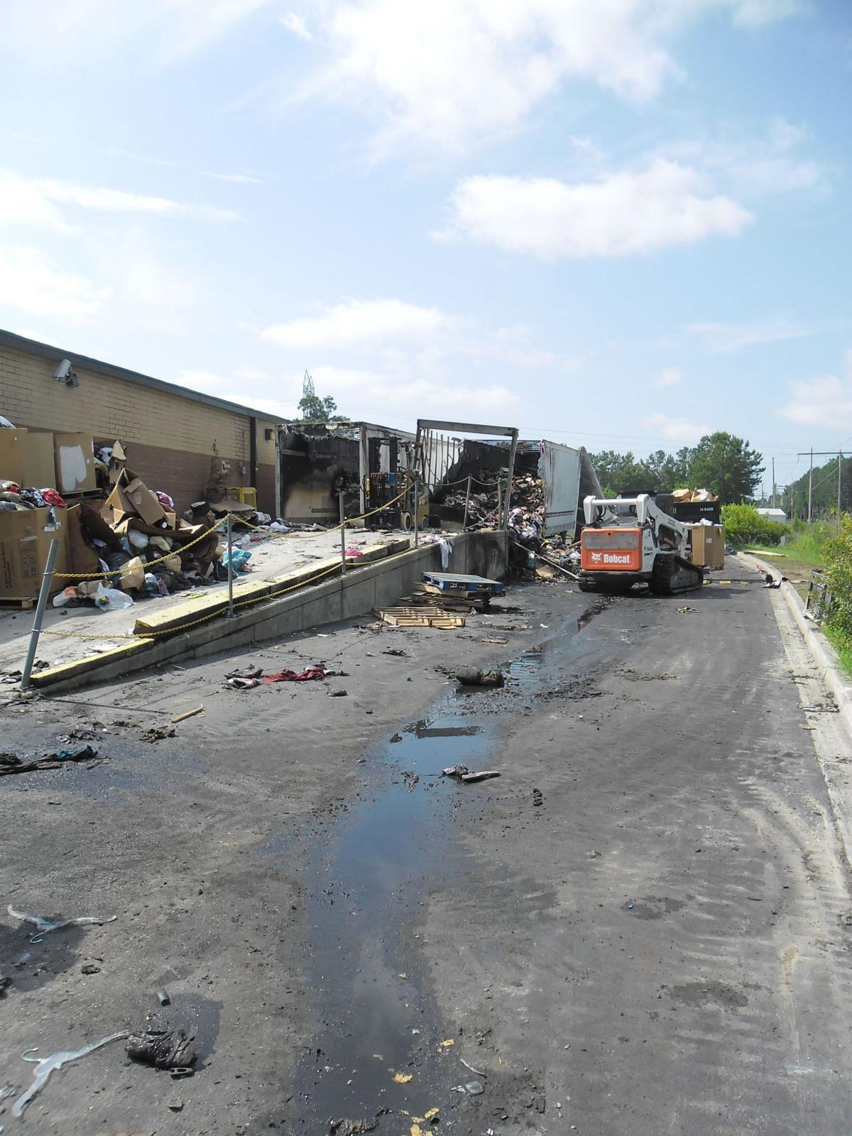 Goose Creek police look into arson of Goodwill trailers