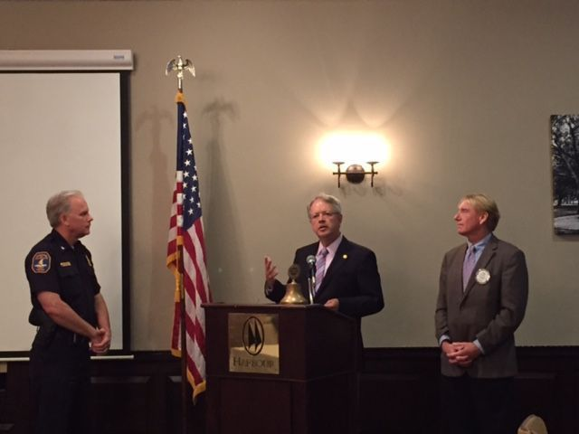 Charleston police chief honored by local Rotary Club