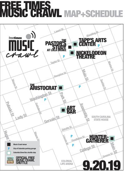 Music Crawl 2019 Map