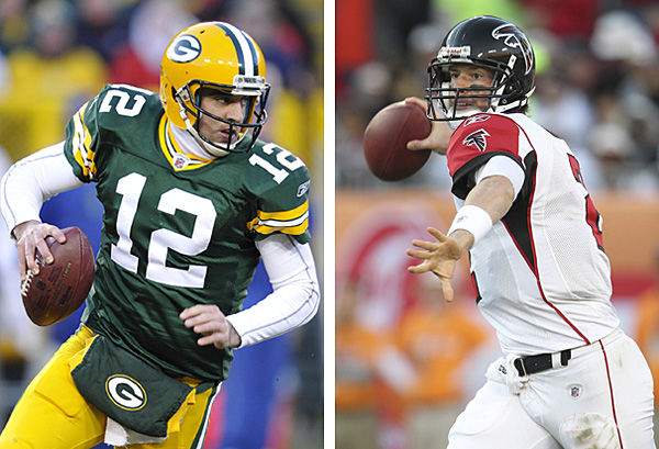 Packers' Rodgers, Falcons' Ryan battle for trip to NFC title game