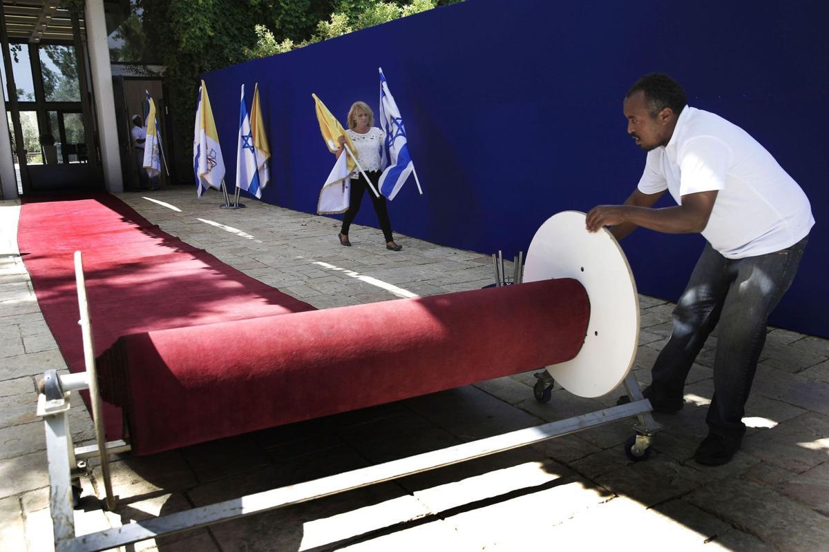 Church defaced in Israel ahead of pope visit