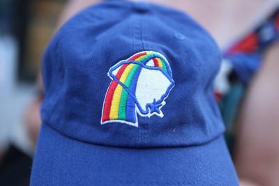 Charleston Rainbows pride hat