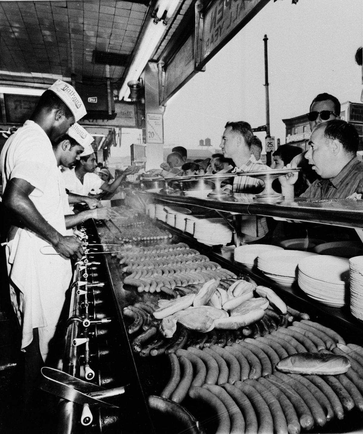 Hot dog contest a whopper of legend