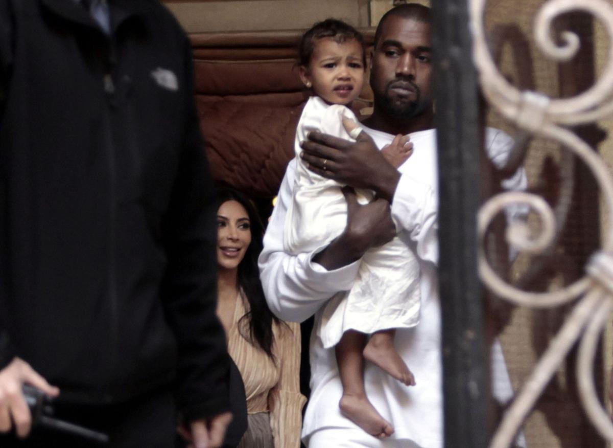 Kim, Kanye have baby baptized in Jerusalem