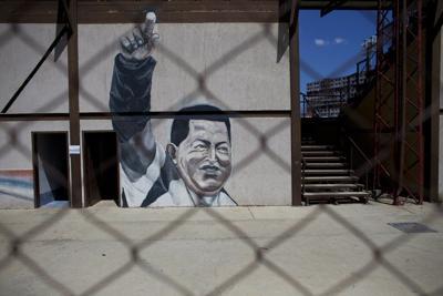 APTOPIX Venezuela Chavez and Guaido