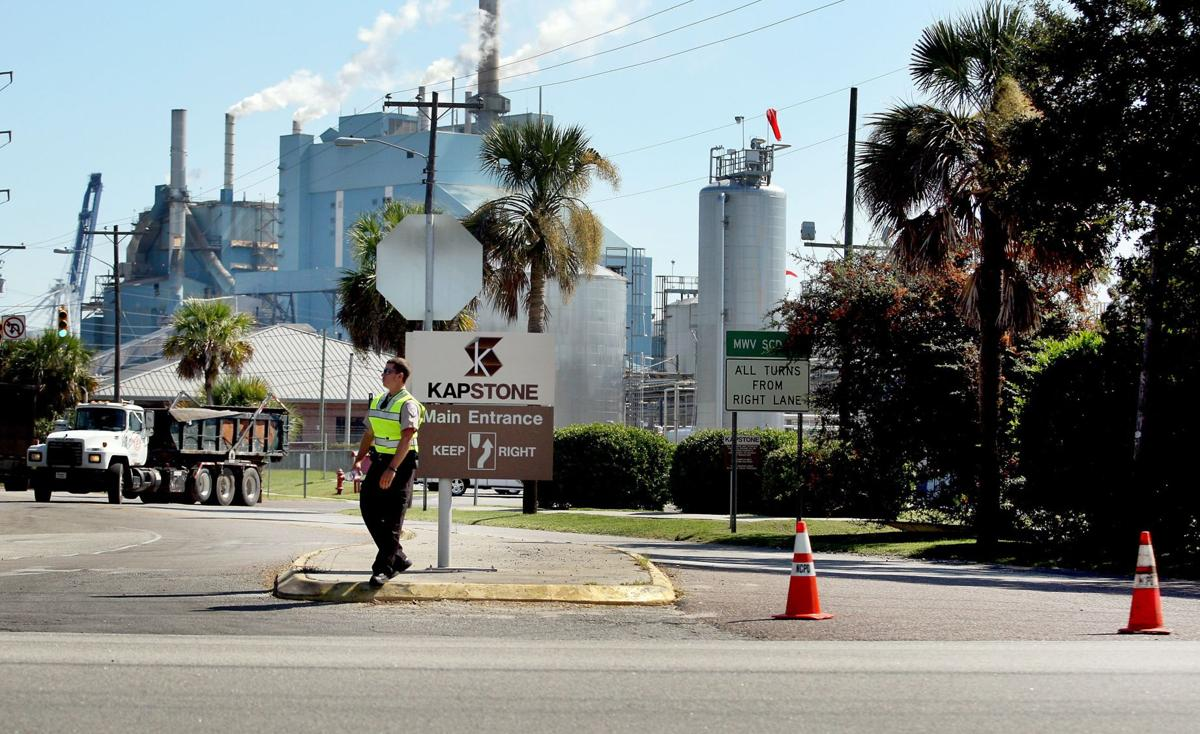 Firefighters responding to North Charleston paper mill