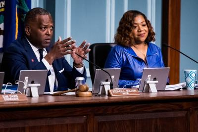 Steve Benjamin and Tameika Isaac Devine council meeting 2019